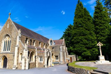 St Alban's Church Hindhead in Summer